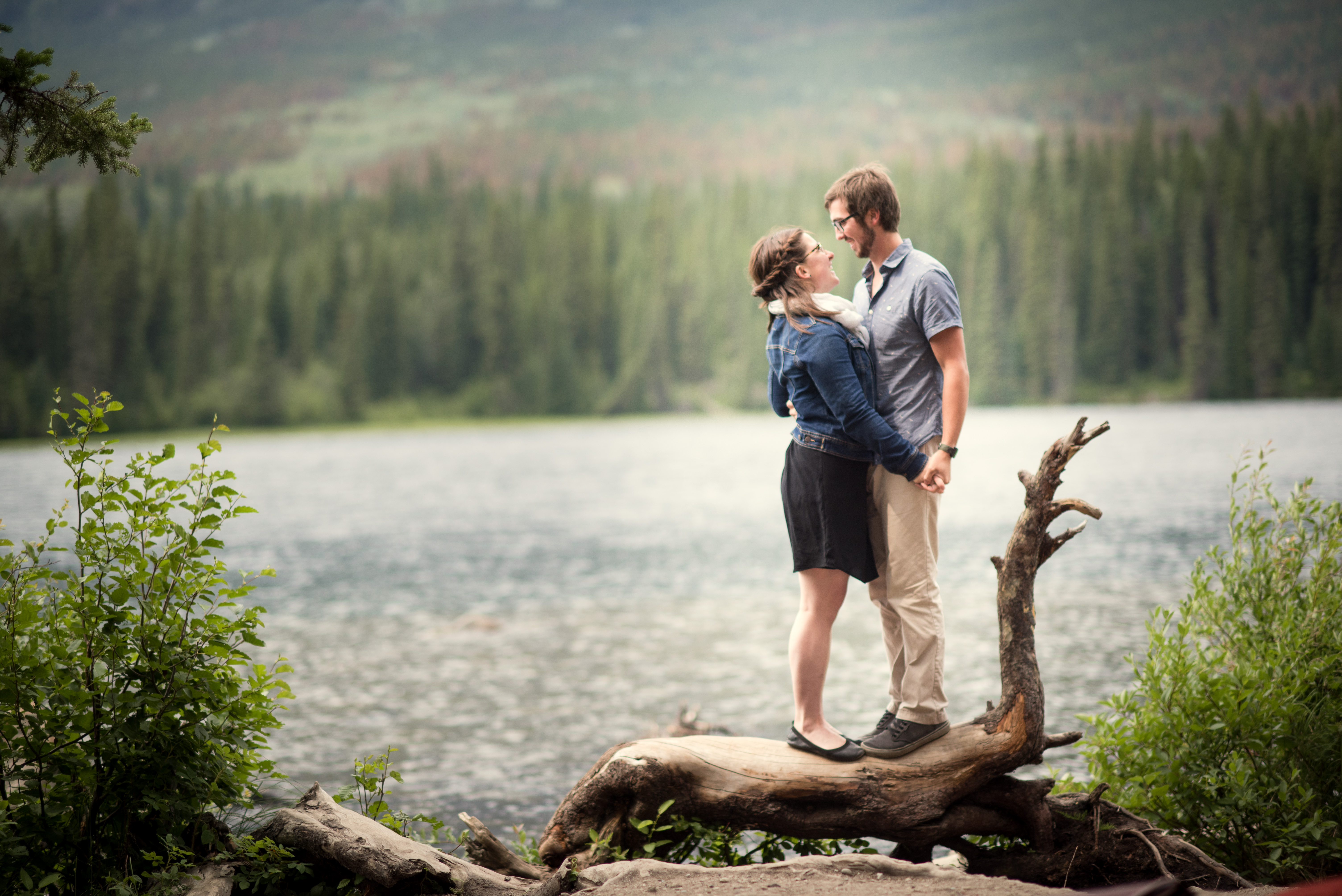 Meghan Elizabeth Photography Engagement adventure session in Jasper