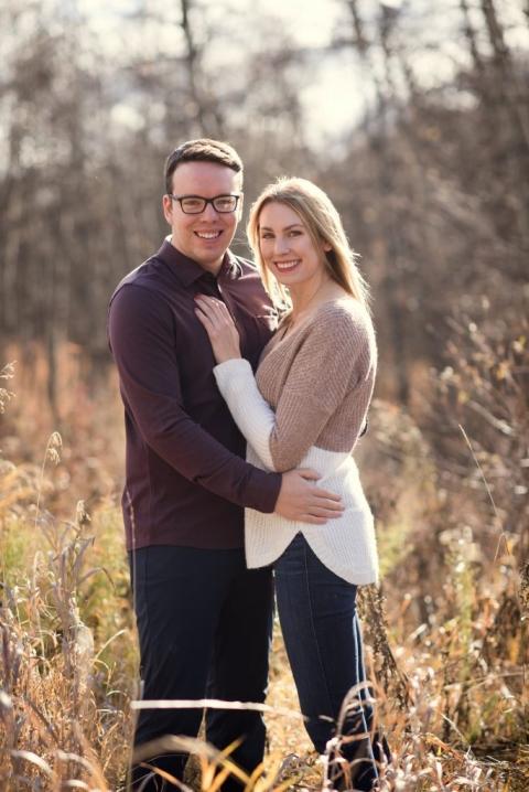 Calgary fall engagement session