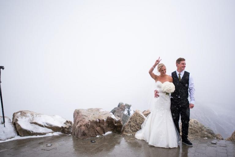 Rocky Mountain wedding golden