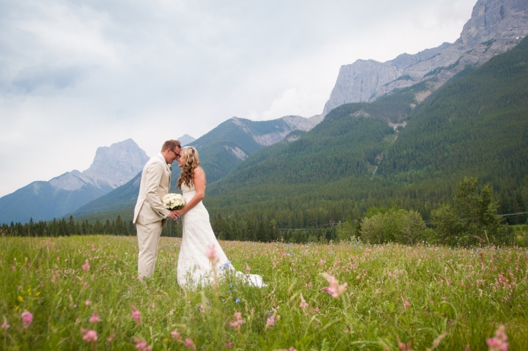 Wedding Portfolio for Meghan Elizabeth Photography Wedding couple at quarry lake canmore