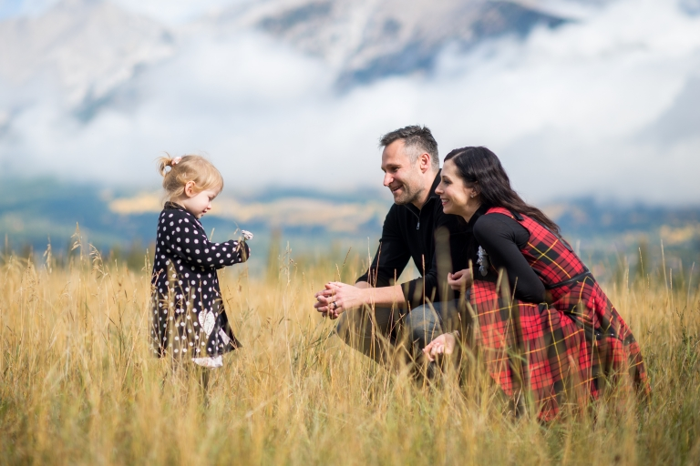 canmore fall family photos