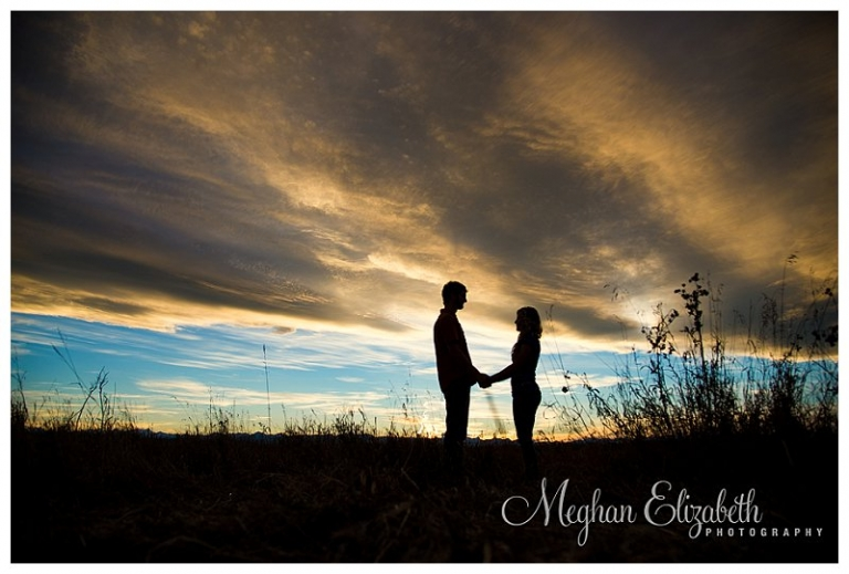 engagement silhouette sunset Calgary