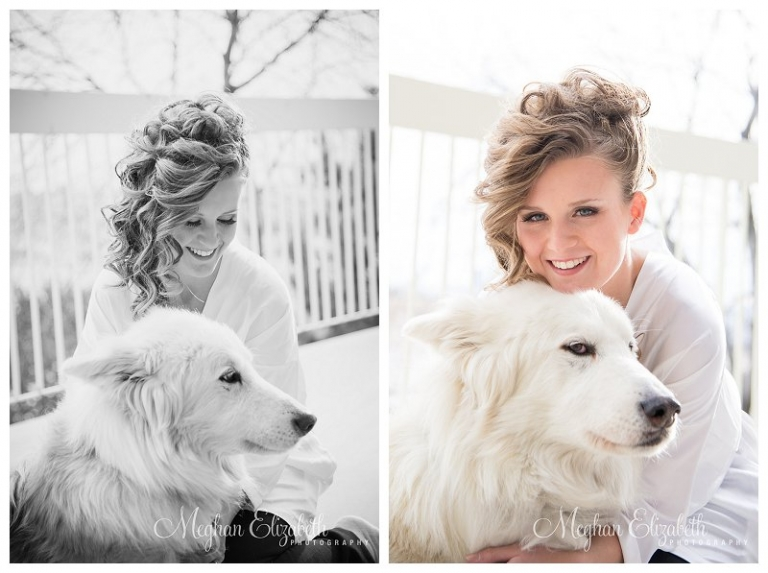 Bride and her dog Calgary