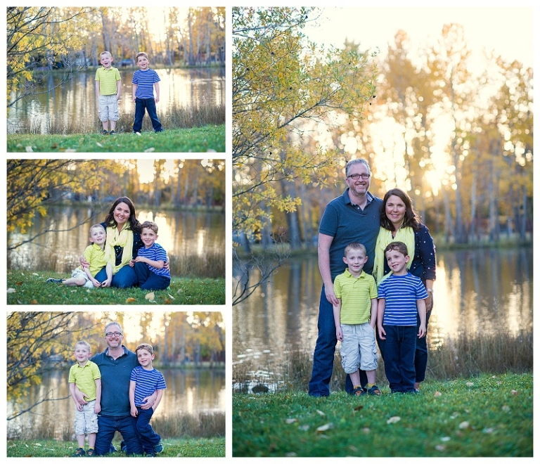 Fall University Research Park Calgary Family Photos