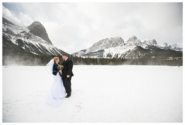 Canmore Western Winter Wedding
