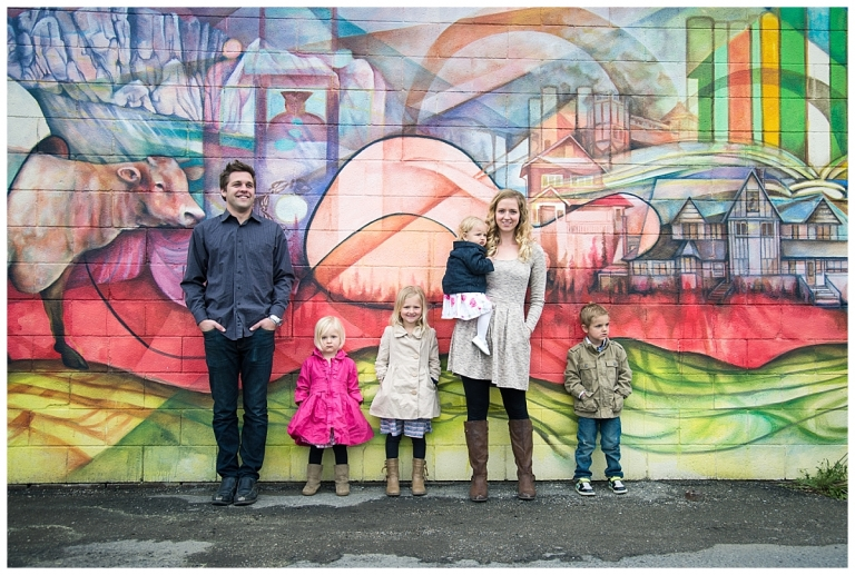 Bowness Graffiti Wall Family Photo session Calgary