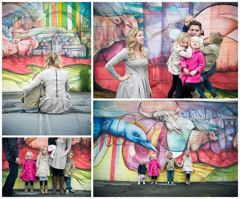 Bowness Road Calgary Graffiti Wall Family Photoshoot by Meghan Elizabeth Photography