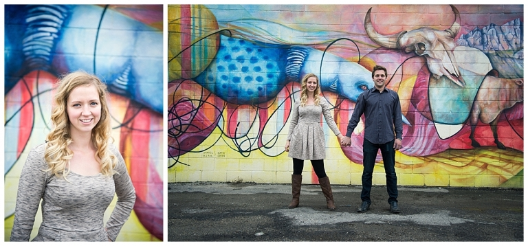 Bowness Graffiti Wall Photos of couple by Meghan Elizabeth Photography