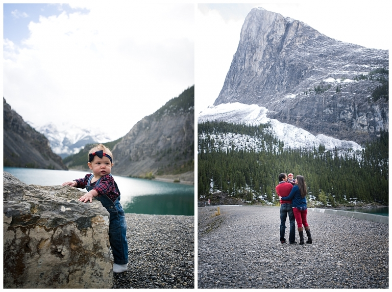 Spray Lakes Family Photoshoot with Meghan Elizabeth Photography