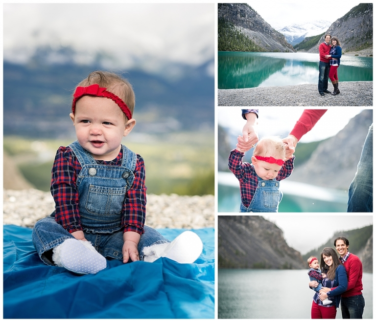 Canmore Family Photos with young family by Meghan Elizabeth Photography