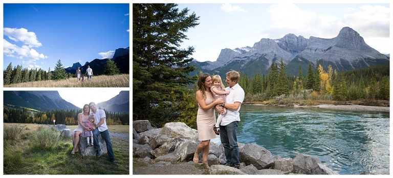 Canmore Fall Family Photos by the Bow River