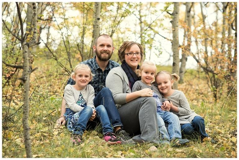 Calgary family of five Meghan Elizabeth Photography