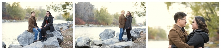 Princes Island Park GOlden hour Engagement Photos