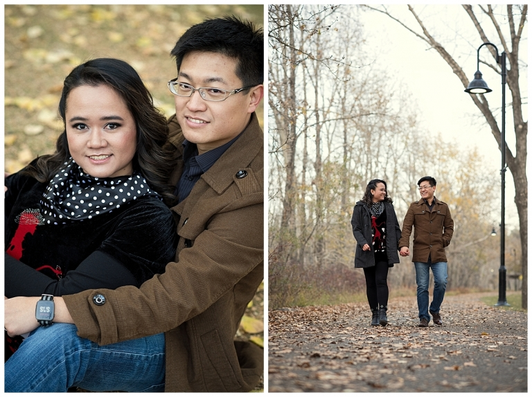 Princes Island Park Fall Engagement Photos