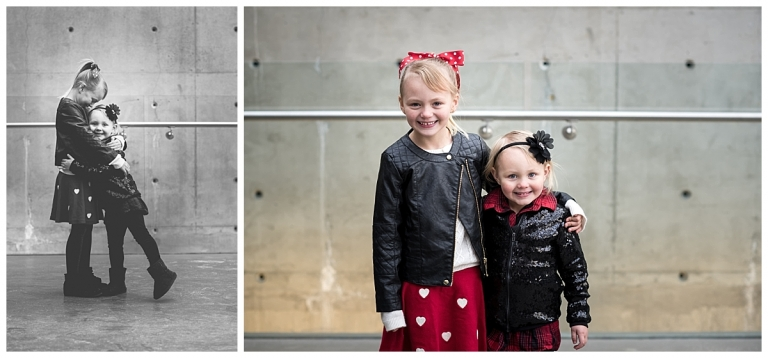 SAIT parkade indoor winter family photos sisters