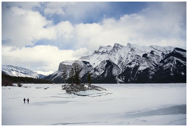 Lake Minnewanka engagment session with Meghan Elizabeth Photography
