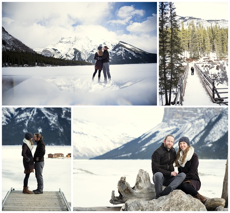 Banff Lake Minnewanka Engagement Photos with Meghan Elizabeth Photography