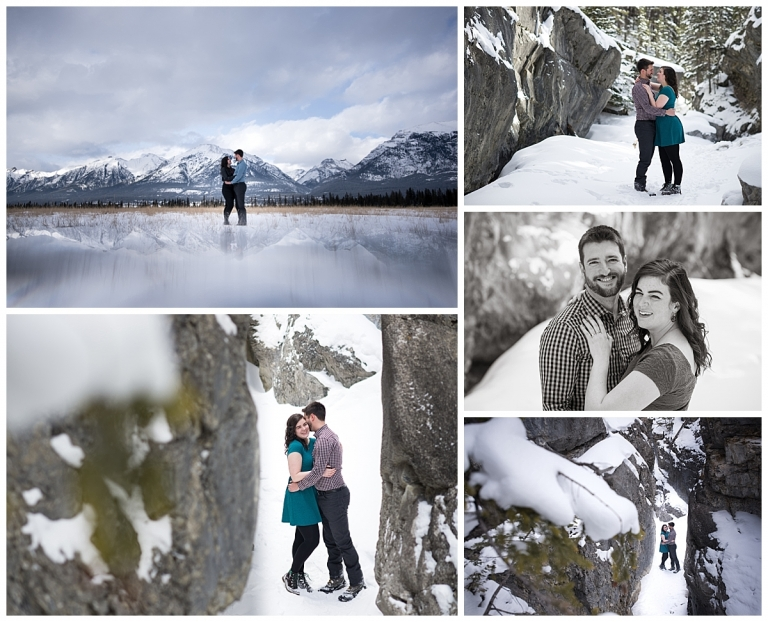 meghan elizabeth photography engagement photos in banff
