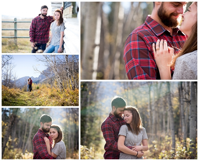 Canmore Adventure engagement session in the fall