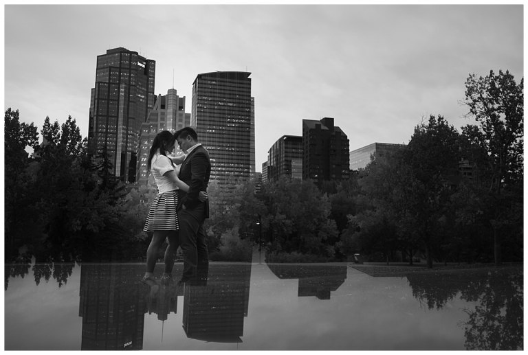 calgary skyline engagement photos