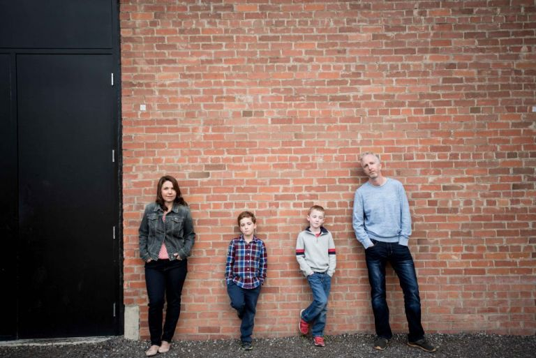east village downtown family photo by Meghan Elizabeth Photography