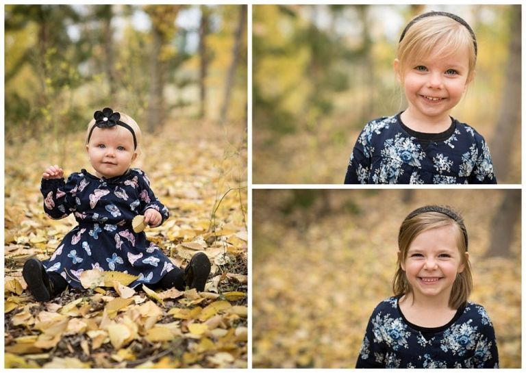 Calgary fall family photoshoot in Silver springs